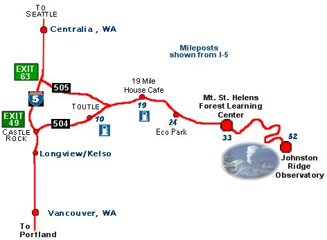 National Parks In Washington State Map.Mt St Helens National Park Visitor Guide